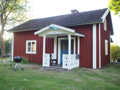 Photo for Charming 1800-century cottage, remote, located in the forest with its own jetty, boat and sauna