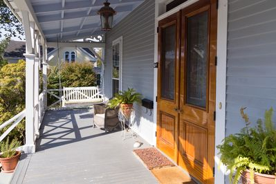 Front porch with swing seat