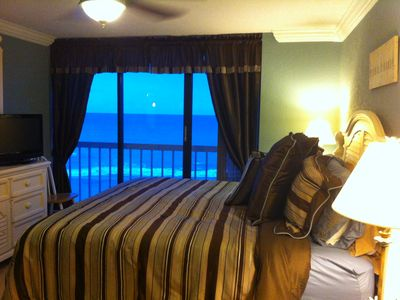 The view from the master bedroom. Let the sounds of the waves lull you to sleep.