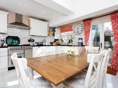 Photo for 2 bed house in quiet neighbourhood with garden near Chelsea and Clapham (Veeve)