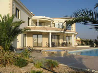 Photo for Private Villa with Heated Pool and stunning sea and mountain views