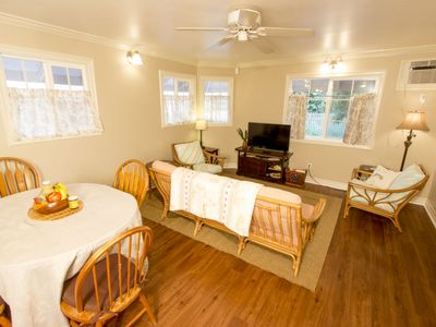 Photo for Private Home; Walk to the Heart of Lahaina Towns Shops, Restaurants, and Harbor!  Living room