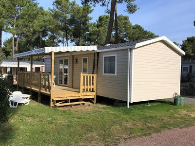 Photo for Mobile home new standing 6/8 people Bonne Anse Beach camping 4 **** family
