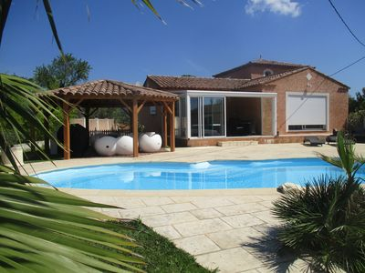 Photo for Villa 8 persons near sea with swimming pool, sauna, table tennis, table football .....