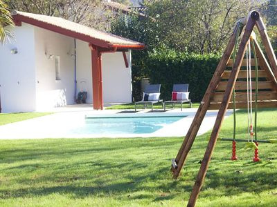 Photo for Ascain ⎜Beautiful Basque house in the heart of the village · Pool · 12pax