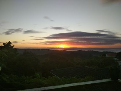 sunrise over Manukau Harbour