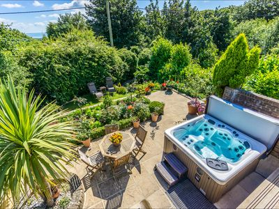 Photo for Sea View Studio Flat with heated indoor pool & hot tub, countryside location