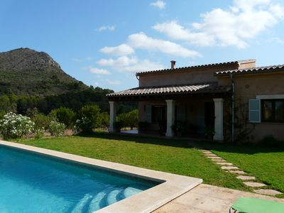Photo for Heart of Mallorca luxurious villa with private pool,  215.000 sq. meters land