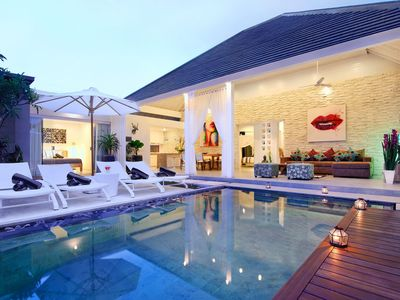 Photo for VILLA DHEVA ·  Lush Poolside Living in Upscale SeminyaK.  Sleeps 8 pax, light, bright,  beautiful villa in a great location close to Eat Street