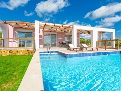 Photo for Vatsa Beach Villa: Large Private Pool, Walk to Beach, Sea Views, A/C, WiFi