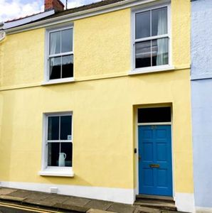 Front of 24 Culver Park, lovely Victorian Cottage in middle of Tenby town .