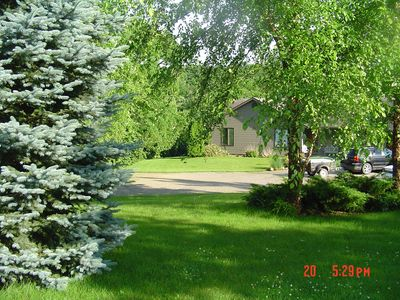 .Front yard and house in background