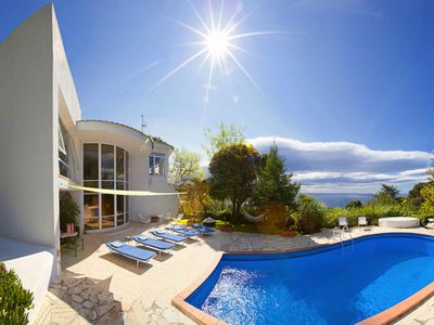 Photo for Amazing villa with sea view,swimming pool and a beautiful garden