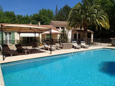 Photo for Spacious provencal villa, sunny and quiet - Roquefort les Pins