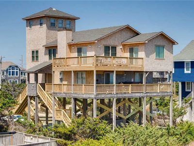 Photo for Alluring Oceanfront Views-Avon w/ Hot Tub, Game Room, Cmty Pool, Steps to Beach!
