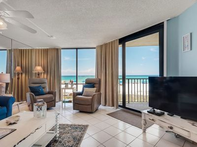 Photo for UPDATED 2 BEDROOM 2 BATH BEACH FRONT AT EDGEWATER BEACH RESORT