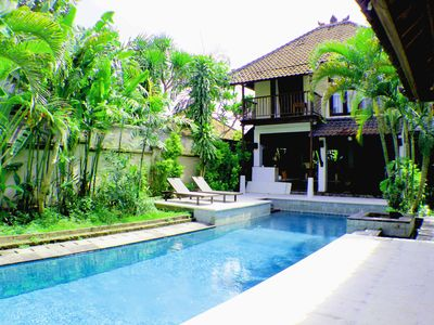 Photo for Large Balinese Villa, 24/7 security, 200 m from the beach