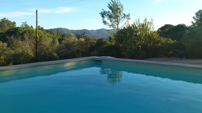 Your little pool, perfect to cool down, after the beach with a drink.