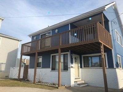 Photo for Fabulous bay views from this 4 bed, 2 bath house; walk to beach, downtown
