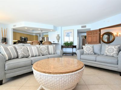 Photo for Beachfront Condo. Includes Beach Service. End-Unit with extra balcony space