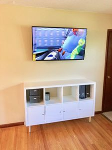 """Living Room Area with 49"""" Smart TV (no cable)"""