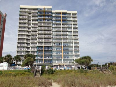 Upgraded Oceanfront 2-BR End Unit Condo in Broardwalk, Downtown Myrtle Beach