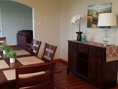 Dining Room off the Kitchen seats up to 10