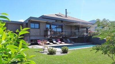Photo for Beautiful Villa in a quiet area with heated pool 3km from Lake Annecy