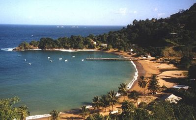 Photo for Rainbow lodge Caribbean  romance, private waterfall & secluded beaches -