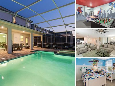 Luxury Retreat | Games Room, Kids Bedrooms, Private Pool and Spillover Spa