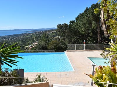 Photo for Apartment Les Lssambres - Infinity pool, fantastic sea view, tennis