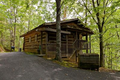 authentic hand hewn log cabin