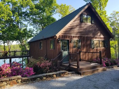 Keowee home with mountain views on the water!