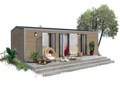 Photo for Camping Le Mas de Mourgues *** - Mobile Home Premium Orange 3 rooms 4 people