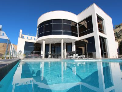 Photo for Modern villa with amazing sea - and coast views in quiet location