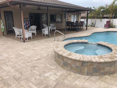 Photo for Relax in Paradise, Saltwater pool & spa Sailboat Access, Canal, Dock