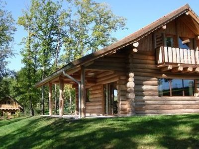 Photo for Two log houses with swimming pool and sauna in Essoyes, Champagne
