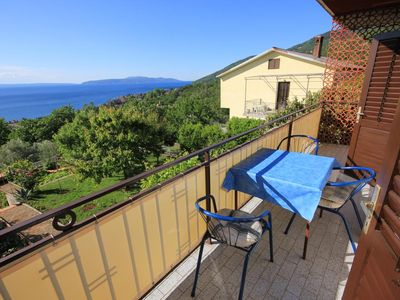 Photo for Two bedroom apartment with balcony and sea view Lovran (Opatija)
