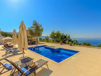 Photo for Three bedroom villa with private pool, panoramic sea views with mountainside location 15 minutes from UNESCO Dubrovnik