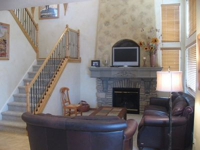Main Floor - Family Room with 2-Story Gas Fireplace