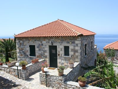 Photo for Fantastic location idyllic, directly on the sea: holiday home with Wifi in Messinia, Pel