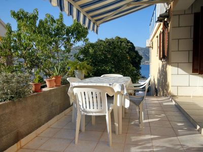 Photo for Two bedroom apartment with terrace and sea view Tri Žala (Korčula)