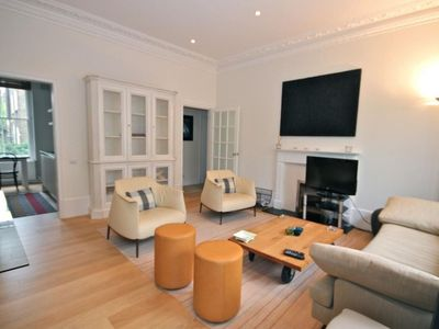 Photo for Spacious Gertrude apartment in Kensington & Chelsea with WiFi.