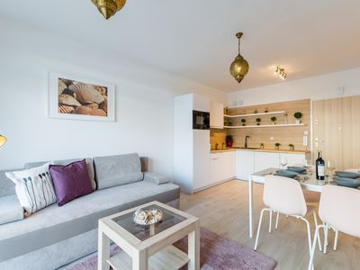 Photo for Appartment Rose - close to the see with access to indoor & outdoor swimming pool