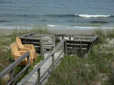 Private boardwalk to Gathering Deck and Carolina Beach! Ocean Front!