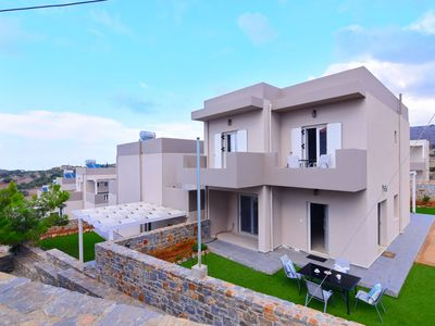 Photo for This 2-bedroom villa for up to 4 guests is located in Milatos and has a private swimming pool, air-c
