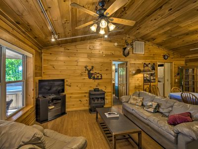 Photo for NEW! 'Deer Glen' Cabin w/Private Hot Tub & Porch!