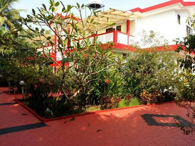 Photo for 3 BHK Tranquil villa ē pool near to Vagator beach