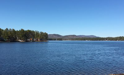 Photo for Ossipee Lake WATERFRONT Cottage - Private beach/dock,  lovely mountain views!!