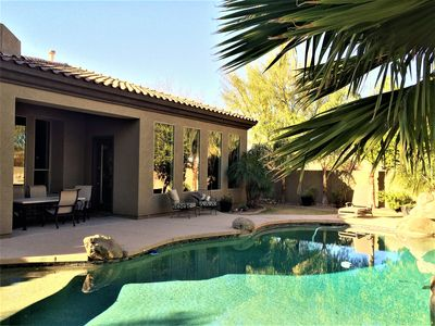 Photo for STUNNING LUXURY HOME heated pool/spa  Very Private and 1 story
